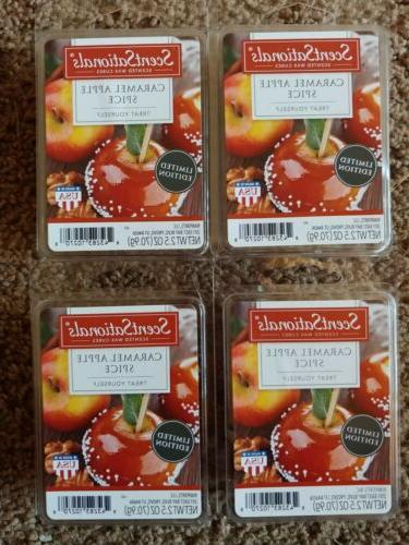 new 4 scented wax cubes melts caramel