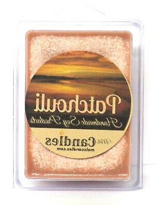 Patchouli 3.2oz Pack of Soy Wax Tarts  Scent Brick, Wax Melt