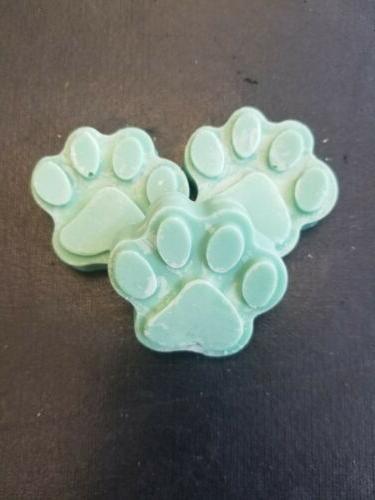 pet paw print soy wax melt rugged