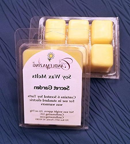 Candlemazing Soy Eco Friendly Natural Wax Grown in USA, Fragrance is Phthalate Free! 2 6 Cubes