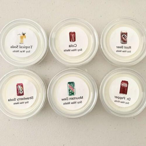 soda collection scented soy wax melts set