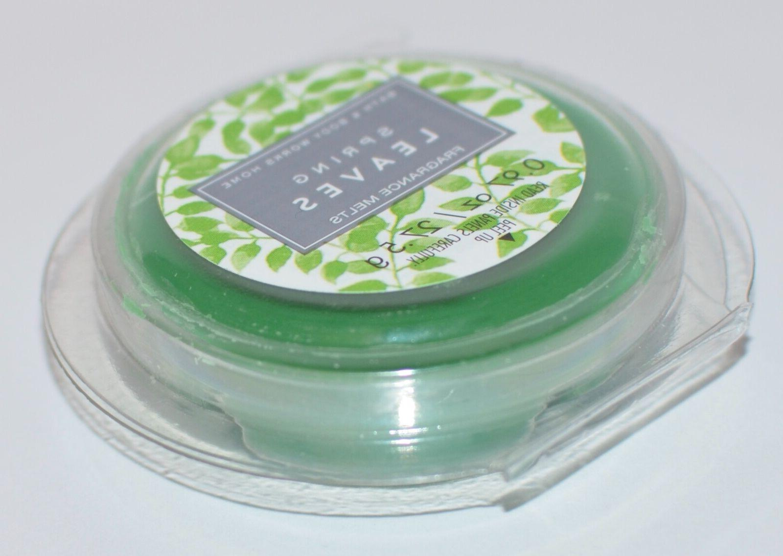 LOT OF BATH & BODY WORKS SPRING LEAVES MELTS WHITE REFILL