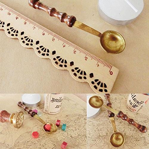 stamps envelope wood spoon ed