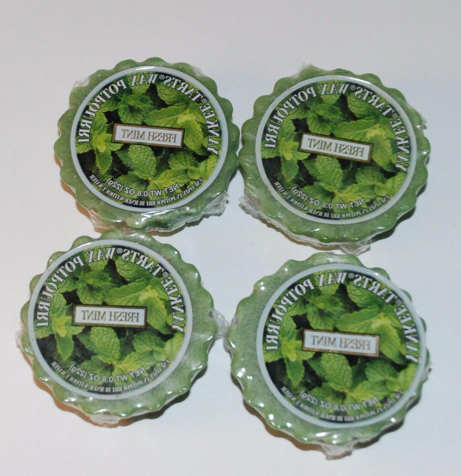 LOT OF 4 YANKEE CANDLE TARTS FRESH MINT SCENTED WAX MELTS RO