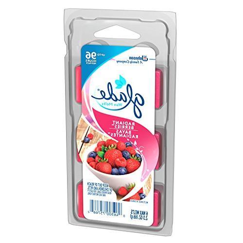 Glade Wax Freshener Refill, 6ct