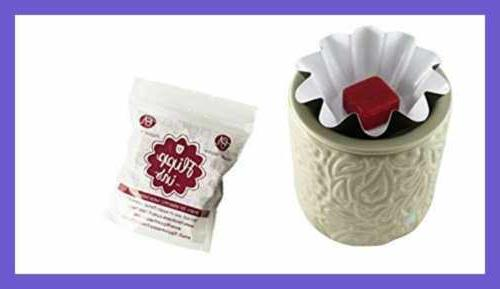 Wax Warmer BEST Electric Warmers wax melts. REUSABLE LEAKPROOF -Change your scented cubes like new.