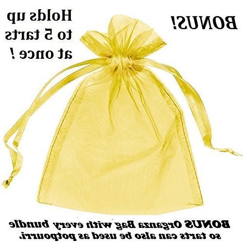 Yankee - Grab Bag 10 Candle Wax - Random yellow organza bag