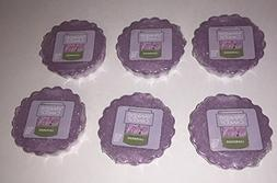 Yankee Candle Lot of 6 Lavender Tarts Wax Melts
