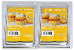 New  6pc Lemon Cupcake Scent American Home Yankee Candle Wax