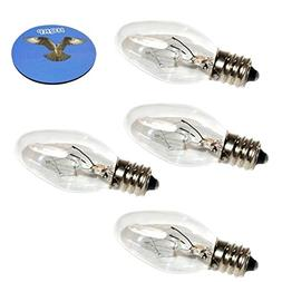 HQRP 4-Pack 15W 120V Light Bulbs for Dawhud Direct Plug-In F
