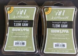 Lot 2 Wood Wick Applewood High Fragrance Wax Melt Cubes Yank