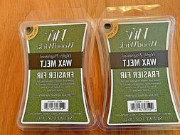 Lot of 2 WOODWICK Wax Melts FRASIER FIR Scented Highly Fragr
