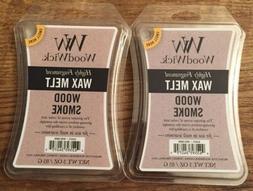 LOT OF 2 WOODWICK Wax Melts WOOD SMOKE Scented / 3 Oz Each /
