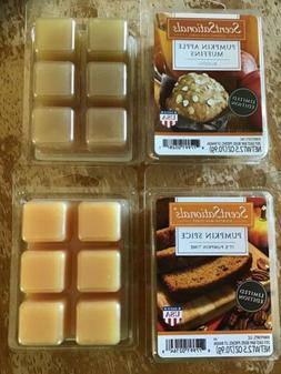 Lot of 4 ScentSationals Scented Wax Cubes/ Melts:  Pumpkin A