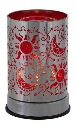 Metal Electric Oil Warmer Scent Cubes Wax Melts Aroma Red Ce