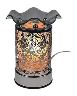Metal Glass Electric Oil Warmer Tart Burner Scent Cubes Wax