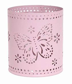 Hosley Set of 6, 3.5'' High Pink Metal Laser Cut Candle Hold
