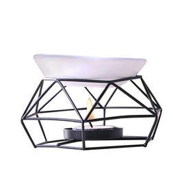 Metal Oil Burner Candle Wax Melt Candlestick Tealight Warmer