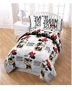 Minnie Mouse Girls Twin Comforter, Sheet Set & BONUS TOTE  +