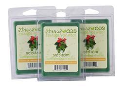 EcoScents Mistletoe Wax Melts , Green
