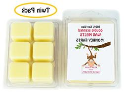 Monkey Farts DOUBLE SCENTED SOY WAX MELTS - WAX TARTS . The