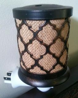Scentsationals Moroccan Burlap Plug In Wax/Oil Warmer with S