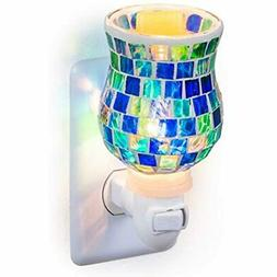 Mosaic Glass Plug-in Fragrance Wax Melt Warmers  Home &amp K