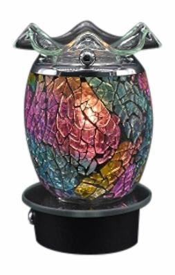 Mosaic Multi Color Plug in No Cord Oil Wax Melts Warmer Burn