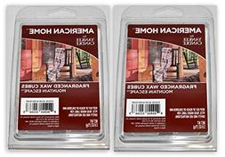 New  6pc Mountain Escape Scent American Home Yankee Candle W