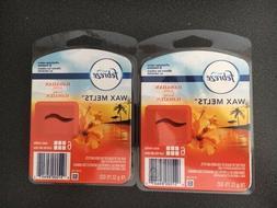 New 2 PK Febreze Hawaiian Aloha Wax Melts Fragrance