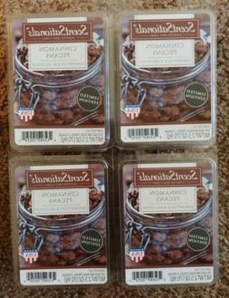 New 4 Scentsationals Scented Wax Cubes Melts Cinnamon Pecans