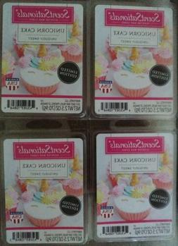 New 4 Scentsationals Scented Wax Cubes Melts Unicorn Cake Sc