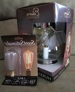 NEW ScentSationals Edison Hurricane Lantern NIB with EXTRA b