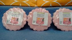 **NEW**  Yankee Candle Fresh Cut Roses lot of 3 Tarts Wax Me