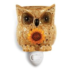 Owl Plug-in Ceramic Stoneware Electric Tart Candle Warmer
