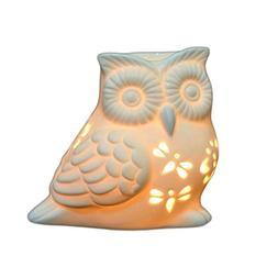 Ivenf Owl Shape Ceramic Tea Light Holder, Aromatherapy Essen