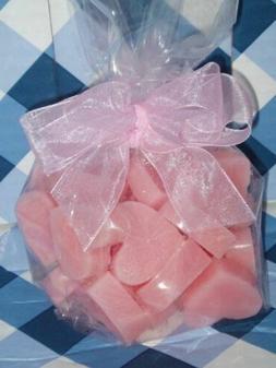 PINK SUGAR X 30 Candle wax melts heart tarts NEW + FREE Samp