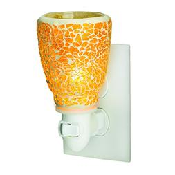 Candle Warmers Etc. Glass Pluggable Fragrance Warmer, Crackl