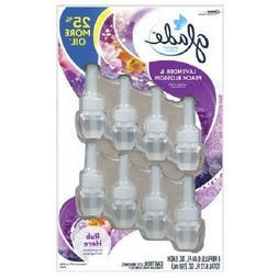 Glade Plugins Lavender Peach Blossom 8 Pack Scented Oil Refi