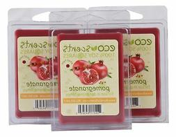EcoScents Pomegranate Wax Melts , Red 3 Pack New