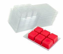 Premium Clear Plastic Wax Melt Clamshells