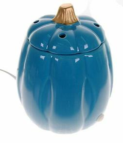 Perfect Harvest Pumpkin Electric Wax Melt Warmer - Blue/Gold