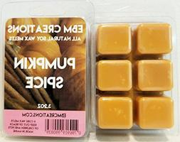 Pumpkin Spice - Scented All Natural Soy Wax Melts - 6 Cube C