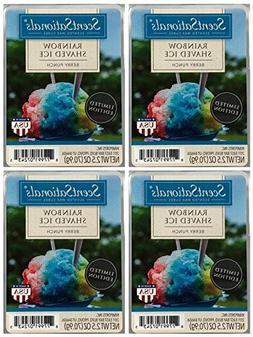 ScentSationals Rainbow Shaved Ice Scented Wax Cubes - 4-Pack