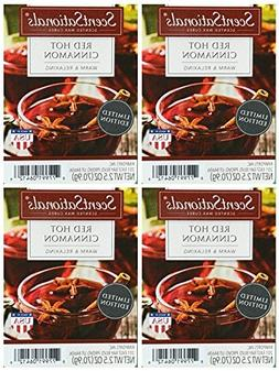 ScentSationals Red Hot Cinnamon Scented Wax Cubes - 4-Pack