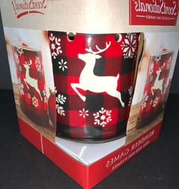SCENTSATIONALS: Red Plaid REINDEER GAMES~Full Size Wax Warme