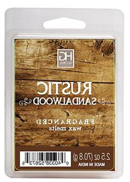 Hosley Rustic Sandalwood Scented Wax Cubes/Melts - 2.5 oz -