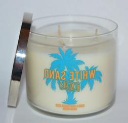 Bath & Body Works Scented 3 Wick Candle 14.5 Oz White Sand B