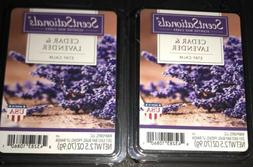 SCENTSATIONALS Scented Wax Cubes CEDAR & LAVENDER / 2 Packs