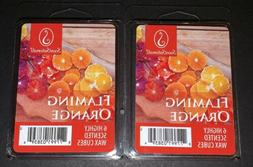 SCENTSATIONALS Scented Wax Cubes FLAMING ORANGE / 2 Packs /